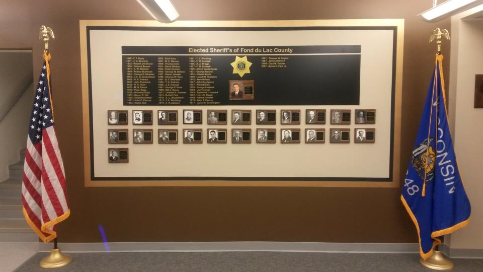 Elected Sheriff Display Wall